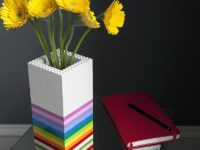 Colorful Lego Vase 200x150 10 DIY Vases For Your Beautiful Flowers