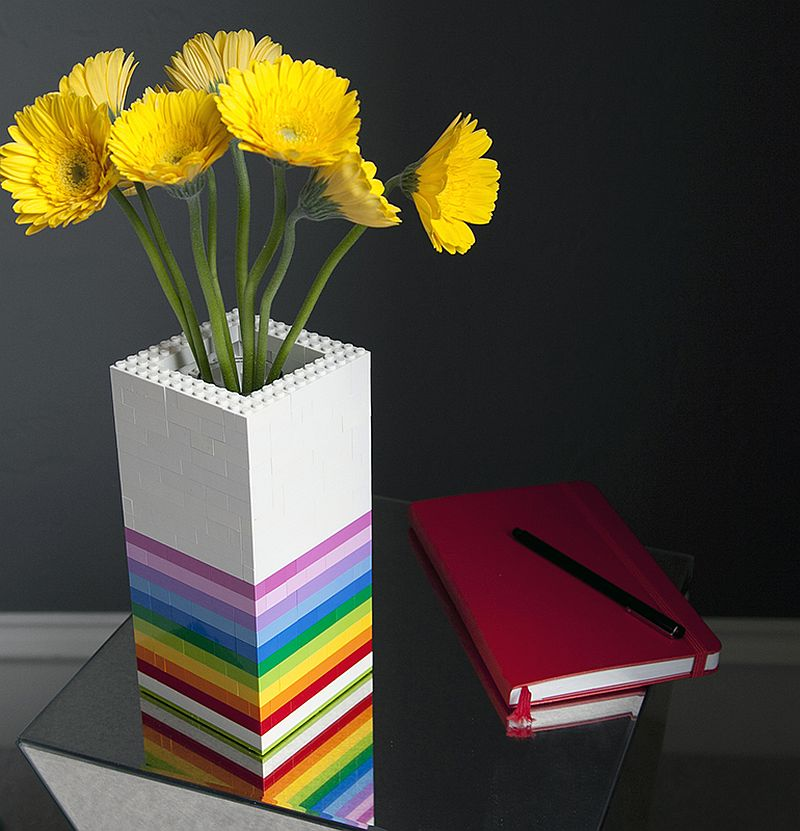 Colorful Lego Vase