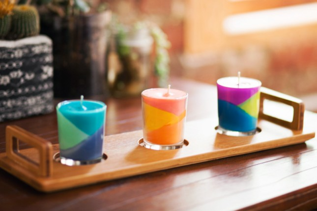 Colour Block Candle
