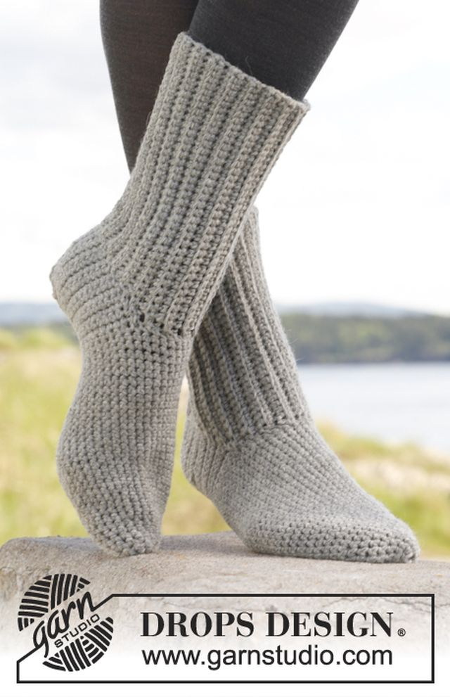 Comfort Rib Crochet Socks