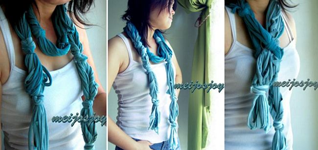 Cool Knotted T-Shirt Scarf