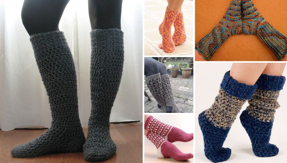 Crochet Winter Socks