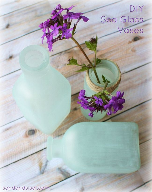 DIY Glass Sea Vases