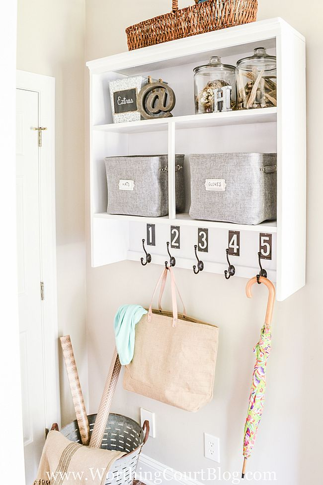 DIY Mudroom DRop Zone 4 Furniture Makeovers that Maximise Space