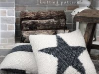 DIY Start Knit Pillow 200x150 Cozy DIY Knitted Pillows Keep Away Winter Blues