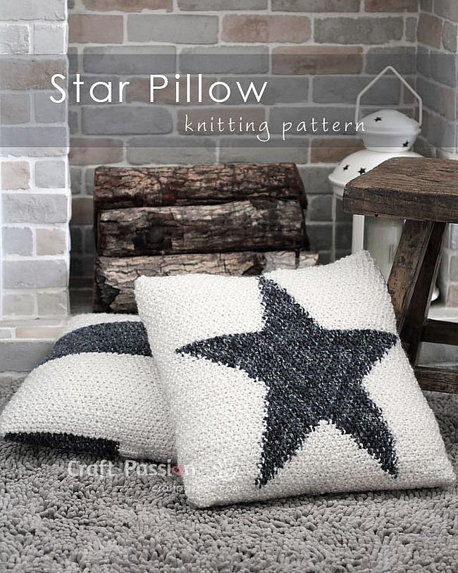 DIY Start Knit Pillow