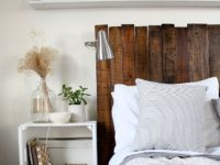 DIY pallet headboard 200x150 15 Fantastic DIY Headboard Projects