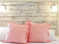 Distressed headboard for the shabby chic bedroom 200x150 15 Fantastic DIY Headboard Projects