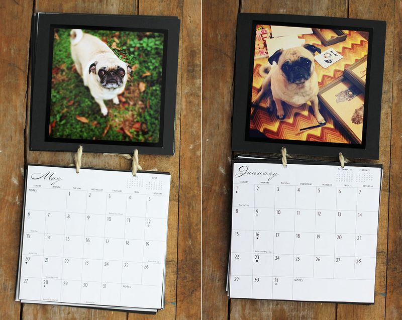 Easy DIY calendar with own pictures