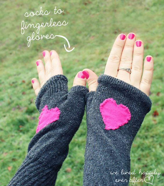 Fingerless Gloves from Socks