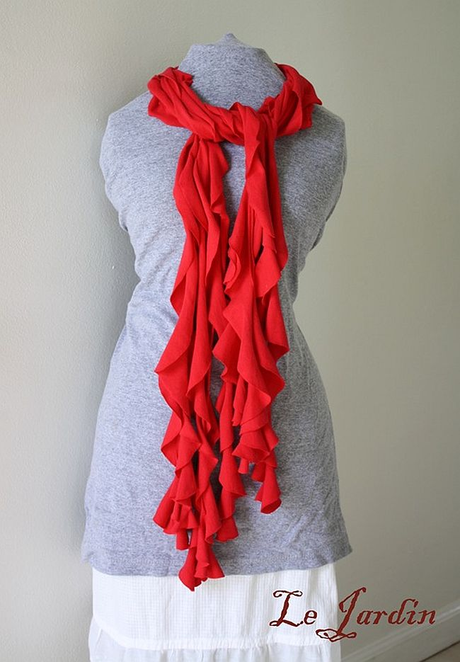Frilly T-Shirt Scarf