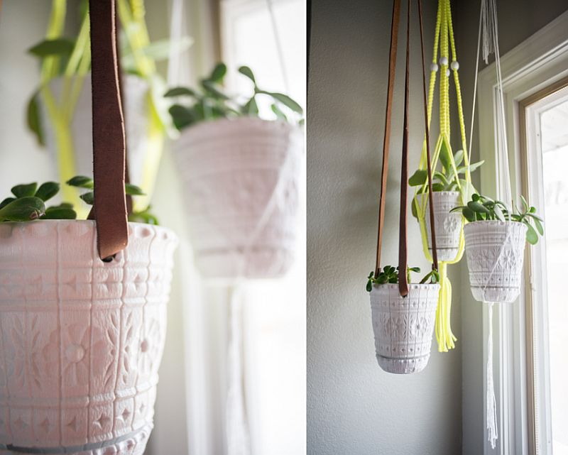 VIEW IN GALLERY Hanging Planter DIY Idea