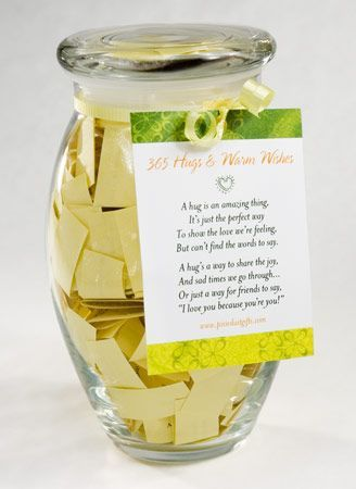 Hugs and Warm Wishes Jar