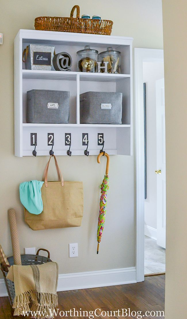 Hutch Top Mudroom Drop Zone