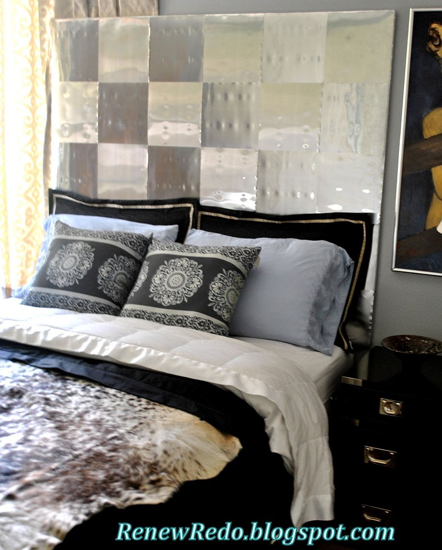 Ingenious homemade aluminum headboard