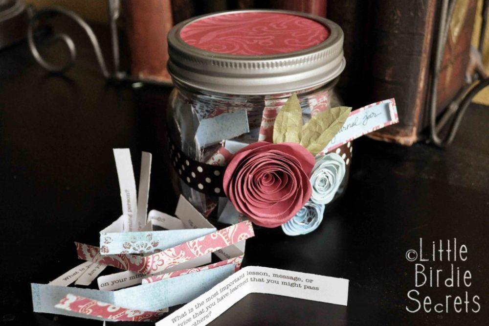 Journal jar gift idea