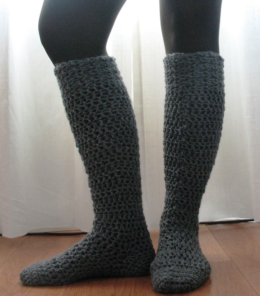 Knee High Boot Socks DIY Crochet Socks Help You Fight The Winter Cold