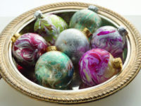 Marbled Christmas Ornaments Craft Tutorial 200x150 Crafty Things You Can Do With Your Unwanted Nail Polish