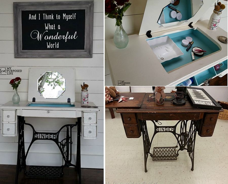7 ways to revamp a vintage sewing table view in gallery multi purpose desk watchthetrailerfo