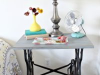 Nightstand from sweing table DIY 200x150 7 Ways to Revamp a Vintage Sewing Table