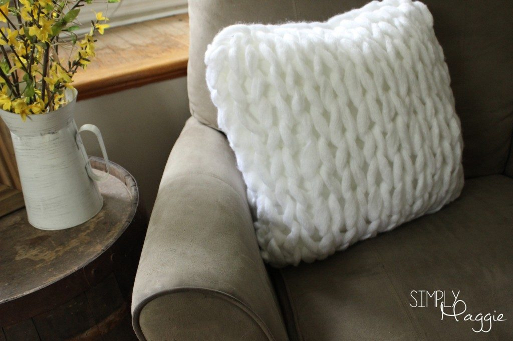 One Hour Knit Pillow