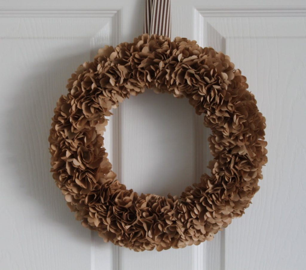 Paper Bag Wreath
