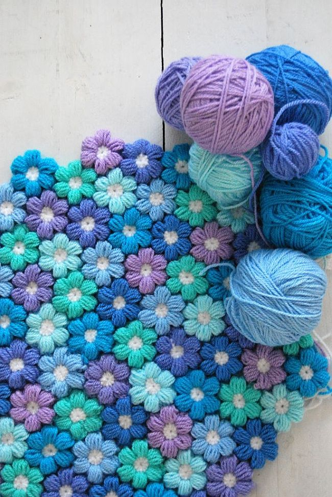 Puffy Flower Blanket
