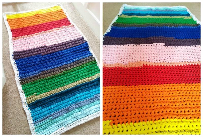 Rainbow Rag Rug DIY