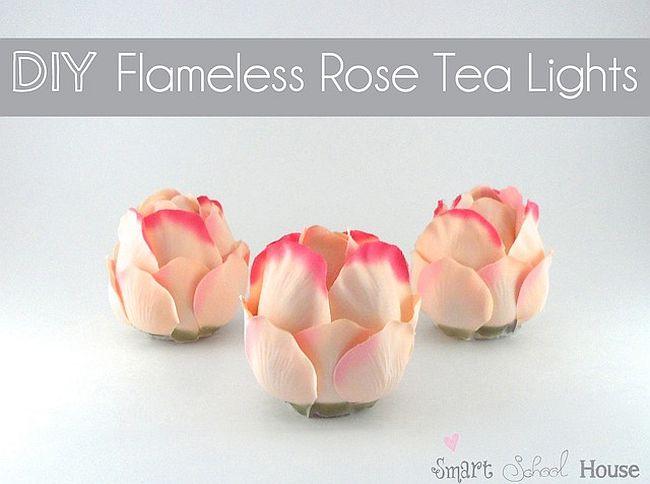 Rose tealights