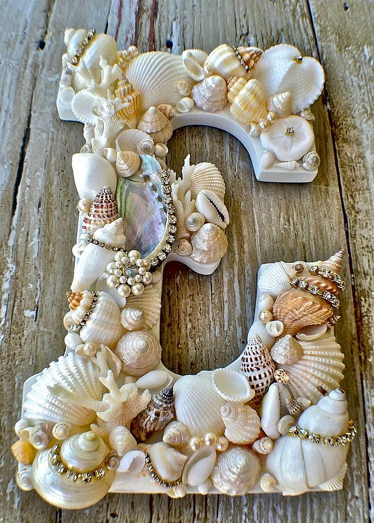 Seashell Letters 7 Decorating Ideas to Bring the Beach to Your Home
