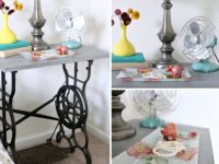 Sewing table turned into DIY Nightstand 200x150 7 Ways to Revamp a Vintage Sewing Table