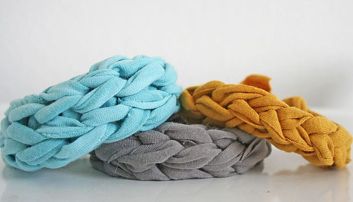 Simple Knit T-Shirt Bracelet