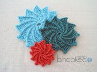 Spiral Flowers 200x150 12 Pretty Crochet Flowers to Brighten Up Your Life