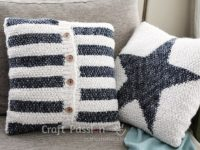 Stylish Knit Stripe Cushion 200x150 Cozy DIY Knitted Pillows Keep Away Winter Blues