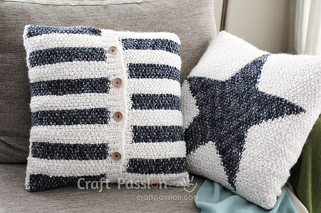 Stylish Knit Stripe Cushion