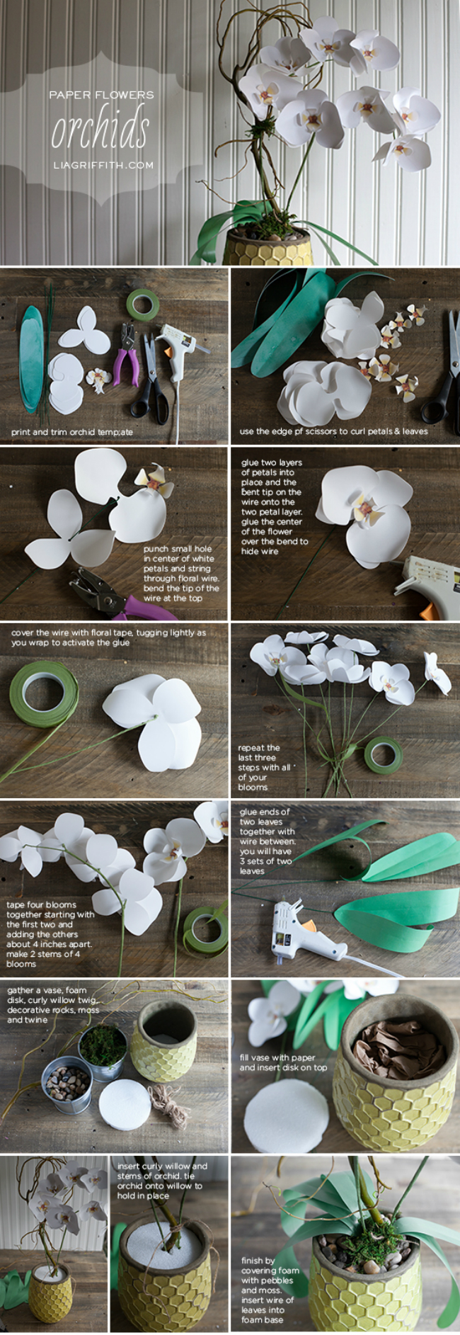Making of Paper Orchid