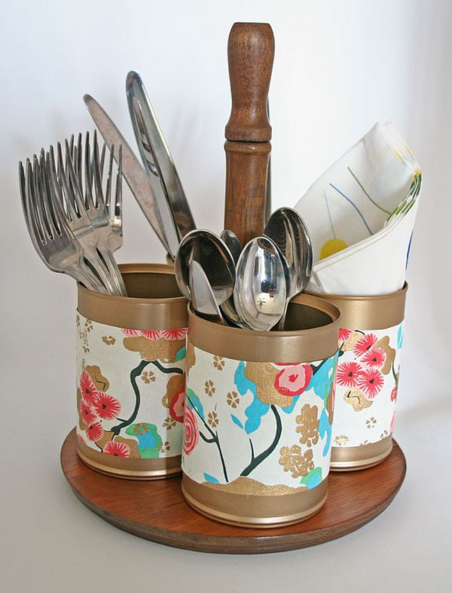 Tin cans kitchen storage