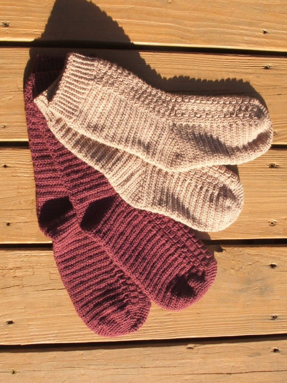 Top Down Crochet Socks