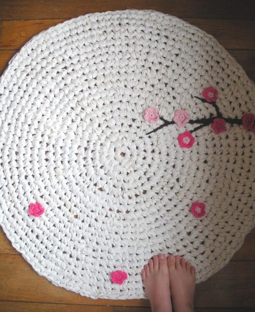 Upcycled Crochet Rug