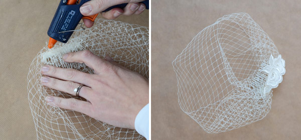 Crafting Birdcage Wedding Veil