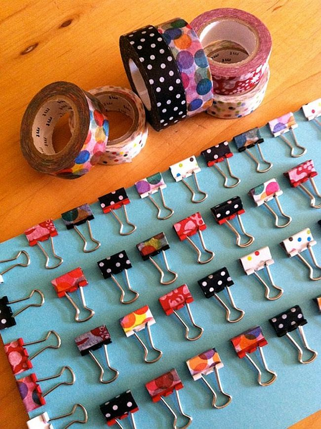 Washi Tape Binder Clips