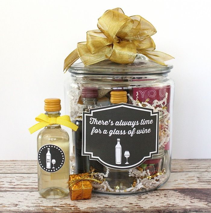 Wine lovers gifts in a jar