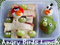 angry bird bento 200x150 10 Quick and Easy Bento Lunches for Your Kids