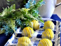 blueberry lemon truffles 200x150 14 Mouth Watering Recipes for Homemade Truffles