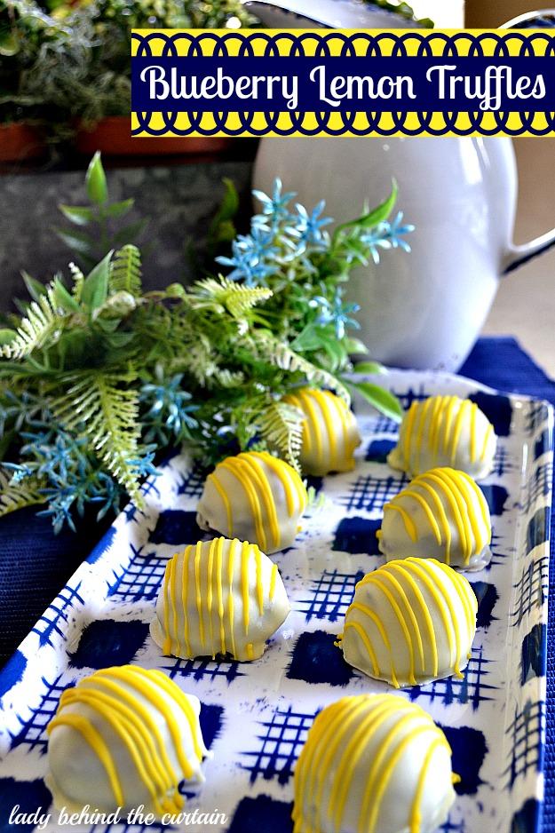 blueberry lemon truffles
