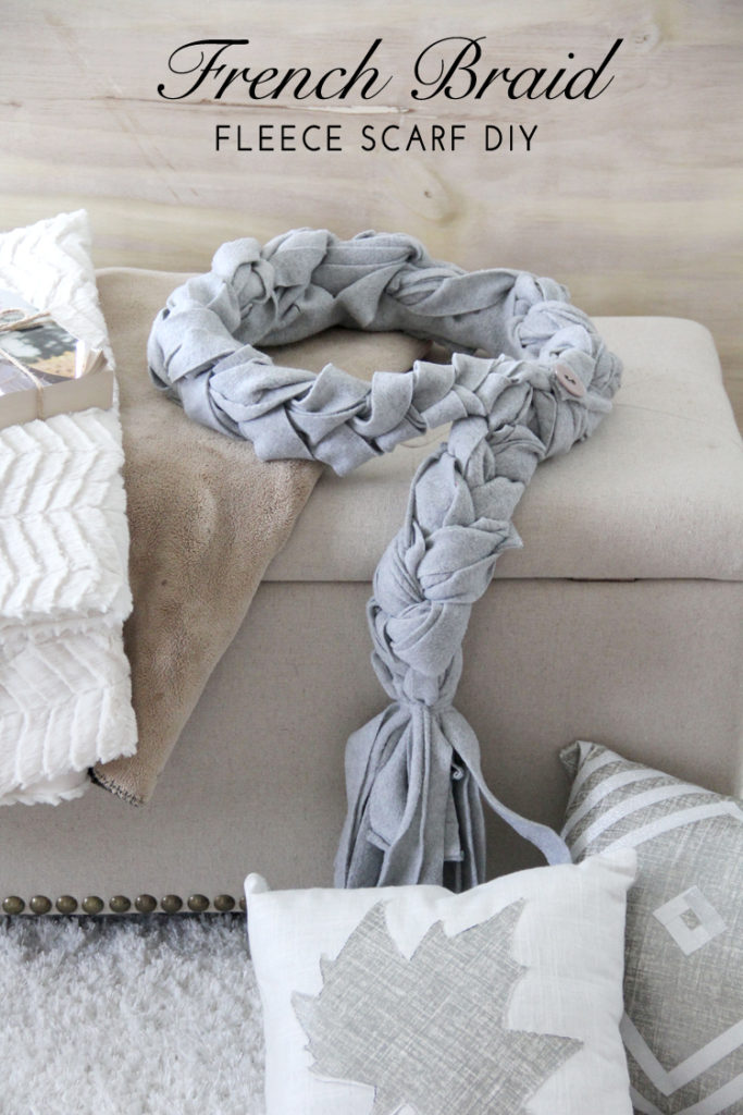 french braid fleece scarf