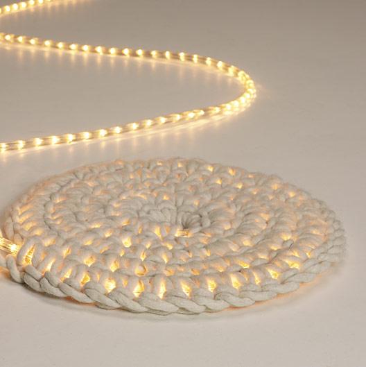 Glowing rope rug