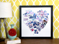 heart photo collage 200x150 Photo Collage Ideas to Help You Stylishly Display Your Favorite Images