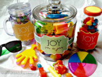 joy in a jar 200x150 Easy DIY Gifts in a Jar Your Kids Will Love