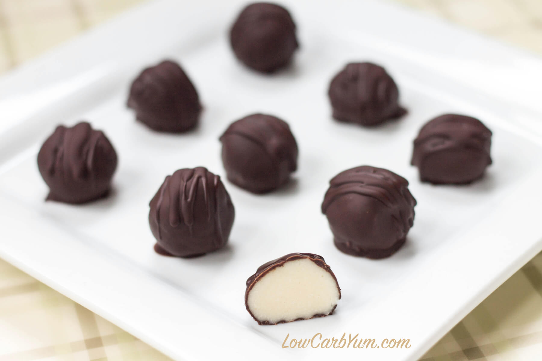 Low carb white chocolate truffles